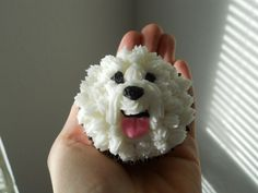 Not sure if this qualifies as a craft, but it is incredibly cute! I'm going to have to ask for bichon cupcakes. Puppy Cupcakes, Puppy Cake, Animal Cupcakes, Cupcake Cookies, Puppy Birthday Parties, Puppy Party, Buttercream Cupcakes, Cake Decorating Techniques, Cute Cakes