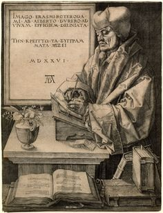Albrecht Durer  Erasmus of Rotterdam, 1526
