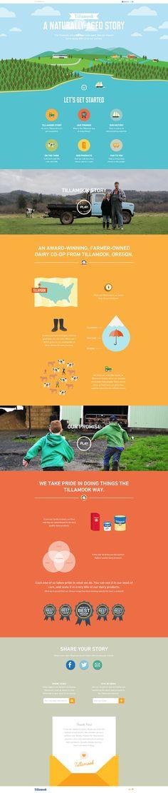Unique Web Design, Tillamook #WebDesign #Design (http://www.pinterest.com/aldenchong/)