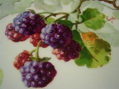 Porcelain China Mugs Cream Colored Cabinets, Vegetable Illustration, Limoges China, Fruit Flowers, Hand Painted Plates, China Porcelain, Painted Porcelain, China Painting, China Mugs
