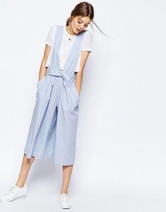 ASOS - Jupe-culotte en lin à bretelles amovibles