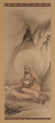 Bodhidharma seated in meditation  ca. 1885    Hashimoto Gaho , (Japanese, 1835 - 1908)   Meiji era
