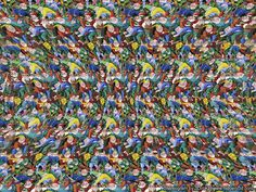 Stereogram by 3Dimka: Hyper Pyramid. Tags: depth, hidden 3D picture (SIRDS)