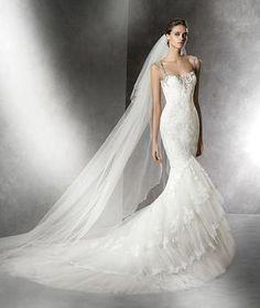 Prusia, Brautkleid aus Tüll im Meerjungfrau-Stil