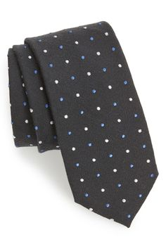 This 'dornan dot' wool & silk tie would make for a great Father's Day gift!