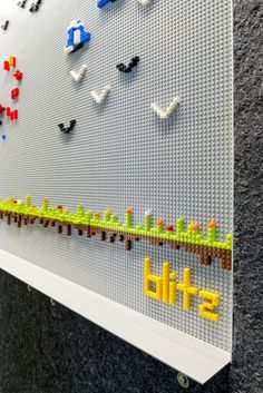 Lego Wall Inside Meltwater's San Francisco Offices - Office Snapshots  til fælles space? kantine? mødelokale