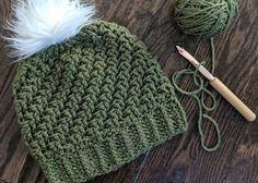 Crochet Fabric, Crochet Stitches, Crochet Hooks, Knit Crochet, Knitting Patterns, Crochet Patterns, Knit Beanie Pattern, Crochet Supplies, Hat Tutorial