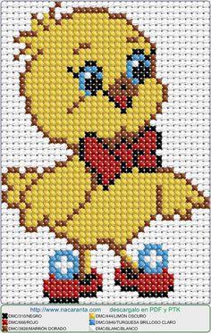 Chick EN PUNTO DE CRUZ, Cross stitch patterns