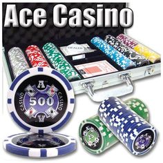 300 Ct Ace Casino 14 Gram Clay Poker Chip Set w/ Aluminum Case by Brybelly. $24.99. This is our Ace Casino laser graphic poker chip set. This set includes 300 clay composite casino grade poker chips in an aluminum case. This set also features a free dealer button and 2 decks of playing cards. Each chip contains a laser graphic inlay that will sparkle tremendously and make your chips the best on the block. Breakout: 50 $1's, 50 $5's, 50 $25's, 50 $50's, 50 $100's, 25 $500's, 25 ...
