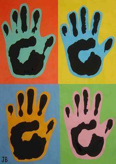 Pop Art avec les mains des enfants !