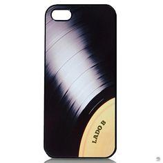 Capa para IPhone 5-5S Vintage Vinil O vinil tem lugar cativo no coração de quem gosta de música, mesmo que a radiola tenha ido para o museu e só se escute música no iPhone. Essa capa é uma brincadeira