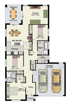 The Primo 175 is a narrow design with modern amenities for first home buyers.