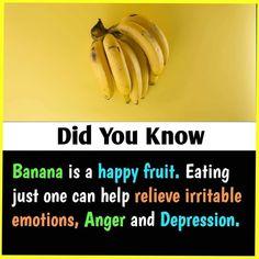 Mengandung Hormon bahagia Reposted from ( - 🍌 - Benefits Of Eating Bananas, Banana Benefits, Health And Fitness Articles, Health And Nutrition, Health And Wellness, Home Health Remedies, Natural Health Remedies, Healthy Facts, Healthy Tips