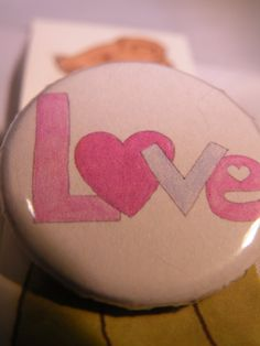 Love Button Badge by LittlemouseLilly on Etsy, £1.00