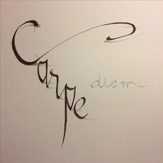 Leren schaduwen in de les Kalligrafie : huiswerk. ( 2e werkje )