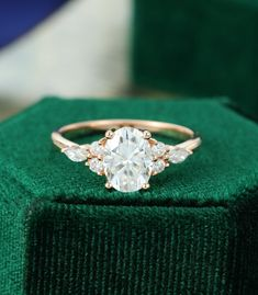 Dream Engagement Rings, Rose Gold Engagement Ring, Engagement Ring Settings, Vintage Gold Engagement Rings, Moissanite Engagement Rings, Wedding Rings Vintage, Engagement Gifts, Custom Engagement Rings, Unique Wedding Rings