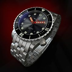 """Ltd Ed. RedSea """"SIX POUNDER"""" Automatic Diver Watch 44mm Stainless Steel Case 