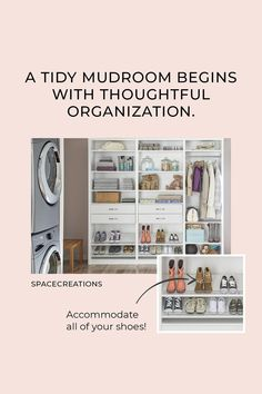 A tidy mudroom begins with thoughtful organization. #EntrywayOrganization #Mudroom #HomeOrganization Entryway Organization, Mudroom, Thoughts, Entry Organization, Ideas