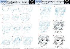 Pour dessiner les personnages de One Piece