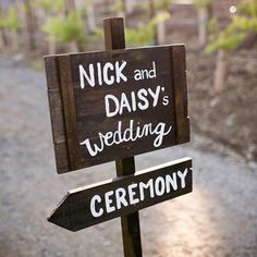 Wedding signs are a must these days, to guide guests from the moment they enter the venue! Photo by Kacie Jean Photography