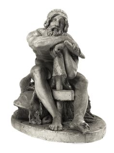 Hermann Ernst Freund: Thor, siddende, støttet til sin hammer - Statens Museum for Kunst