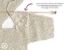 How do I create a knitted kimono baby jacket? , How to make a Knitted Kimono Baby Jacket – Free knitting Pattern & tutorial , Breien Source by mp_bochove Baby Cardigan Knitting Pattern, Baby Knitting Patterns, Baby Patterns, Crochet Jacket, Knitting Stitches, Knitting For Kids, Free Knitting, Cardigan Bebe, Baby Kimono