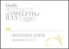 Letterpress Wedding Reply cards | Typology Design | Bella Figura Letterpress