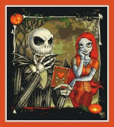 NIGHTMARE BEFORE CHRISTMAS cross stitch 12.0 x 12.0 inches CHART ONLY