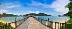 Pier und #Strand auf Pangkor Laut. #Malaysia Urlaub auf #Pangkor Laut: http://www.malaysiaurlaub.net/pangkor-pangkor-laut-die-perlen-vor-perak/