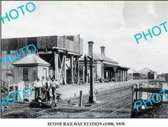 Scone Railway Station in 1900.A♥W