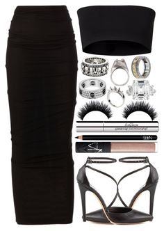 """""""apathic"""" by allthingsiris on Polyvore featuring Givenchy, Dušan, Alice + Olivia, NARS Cosmetics, Sisley Paris, Alexander McQueen, King Baby Studio, RP/Encore and Versace"""