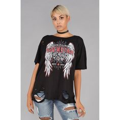 Born to Be A Rockstar Distressed Tee