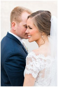Beautiful bride and groom. Image by Rustic White Photography.