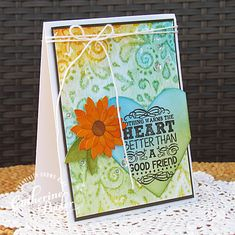 stamped and stenciled card tutorial