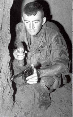 Tunnel rat, Vietnam. #VietnamWarMemories..