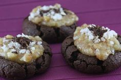 German Chocolate Cake Cookies (these are made from scratch but I am sure that you could use a cake mix and can frosting for same results?)