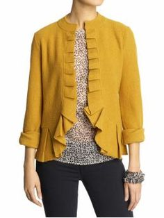 REALLY falling for this mustard yellow color!
