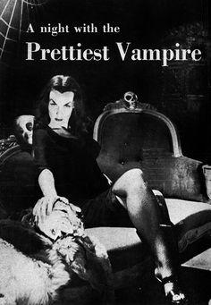 Vampira first horror movie host Bettie Page, Horror Art, Horror Movies, Sexy Horror, Dramas, Cinema, Creatures Of The Night, Cassandra Peterson, Vintage Horror