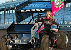 Congrats to McKenna Haase, first female feature sprint car driver to win at Knoxville Raceway!