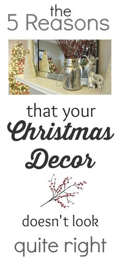 If you find yourself getting frustrated by your Christmas decor, these tips will help you get on the right track and figure out just why it's bugging you!