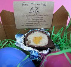 Sweet Dream Egg from Obsessive Confection Disorder. Vegan Desserts, Vegan Food, Vegan Recipes, Agave Nectar, Vegan Chocolate, Vegans, Turmeric, Sweet Dreams, Coconut