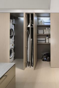 new down stairs laundry and utilitys room compact