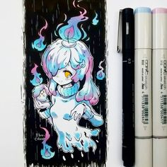 Fun fact: mis Pokémons favoritos s Anime Drawings Sketches, Anime Sketch, Kawaii Drawings, Copic Marker Art, Copic Art, Amazing Drawings, Cool Drawings, Kawaii Art, Kawaii Anime
