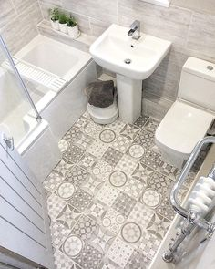 Take a look at this necessary illustration as well as take a look at today relevant information on Small Bathroom Renovation Ideas Bathroom Floor Tiles, Bathroom Toilets, Bathroom Design Small, Bathroom Interior Design, Small Grey Bathrooms, Bad Styling, Downstairs Toilet, Bathroom Goals, Upstairs Bathrooms
