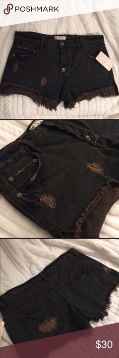 NWT Free People Jean shorts Brand new! Never worn and perfect condition. Waist is 26in. I love them so much but they are too big for me. Free People Shorts Jean Shorts