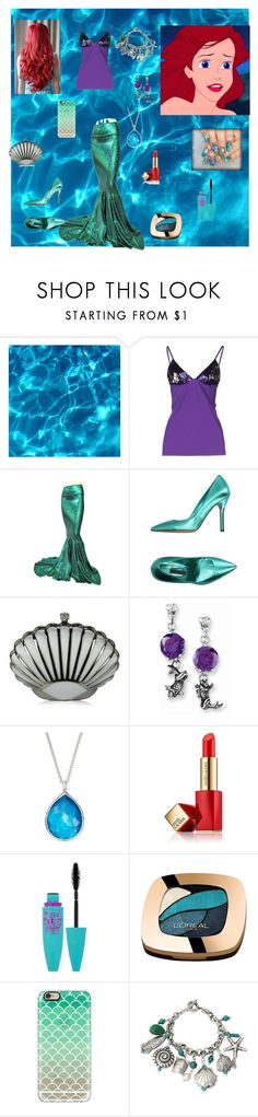 """Simply Ariel"" by stripes21 ❤ liked on Polyvore featuring Fisico, Emma Brendon, Ed Hardy, Ippolita, Estée Lauder, Maybelline, L'Oréal Paris, Casetify, NOVICA and NAMI"