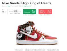 Nike. Algo de Data de las Vandals Heart Conditions, King Of Hearts, Nike, Red And White, High Top Sneakers, Shoes, Style, Cape Clothing, Slippers