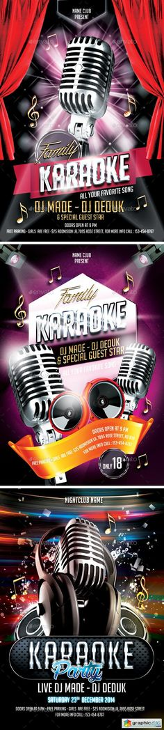 Check Out Karaoke Night Flyer Template By Hotpin On Creative