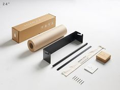 George & Willy's Studio Roller gives you easy access to large rolls of kraft paper. The wall-mounted holder is available in or wide Packaging Suppliers, Paper Roll Holders, Butcher Paper, Round Bar, House Wall, Design Furniture, Black Walls, Wall Mount, Wall Decor