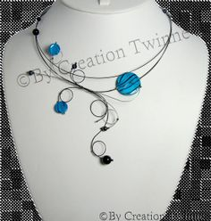 pool blue swirls handmade necklace, christmas gift idea, wedding necklace, mother gift, bridesmaids gifts,funky jewelry, evening necklace, by creationtwinne, $36.50 Funky Jewelry, Jewelry Ideas, Unique Jewelry, Jewelry Design, Asymmetrical Design, Pretty Necklaces, Organic Shapes, Mother Gifts, Handmade Necklaces